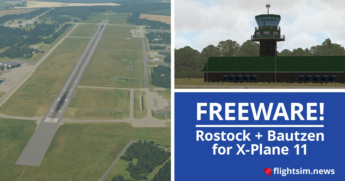 Simmershome Rostock-Laage and Bautzen for X-Plane 11