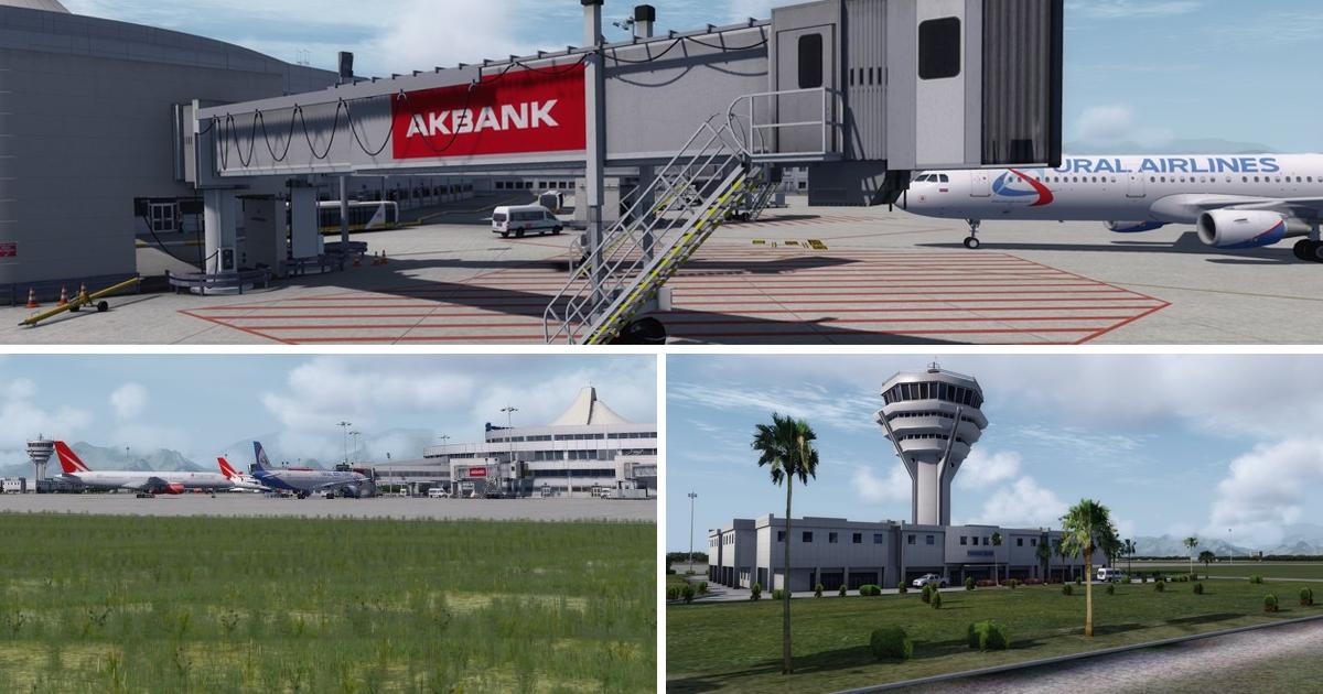 JustSim Antalya Airport for Prepar3D v4