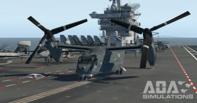 AOA Simulation V-22 Osprey for X-Plane 11