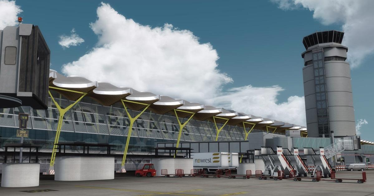 Aerosoft Mega Airport Madrid Professional by sim-wings