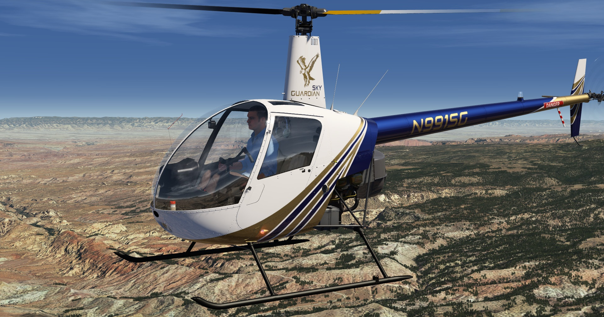 The Robinson R22: New standard aircraft for the Aerofly FS 2 Simulator