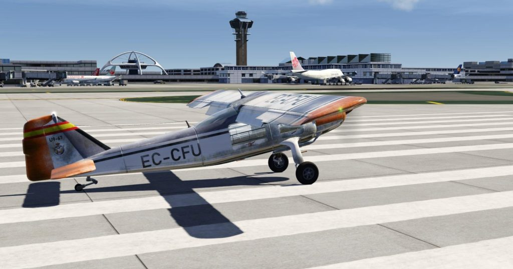 The exterior model of the Dornier Do 27 Freeware for Aerofly FS 2.