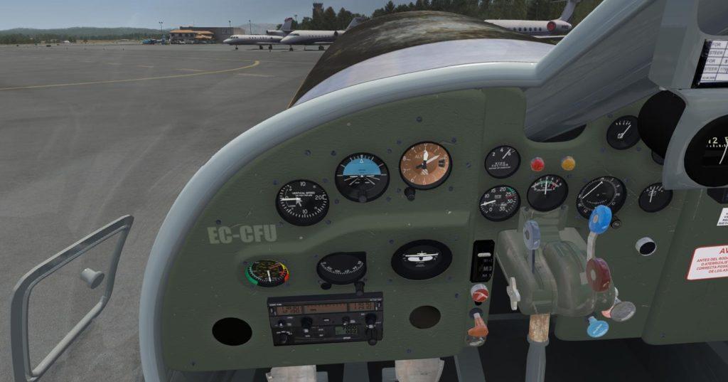 The cockpit of the Dornier Do 27 Freeware for Aerofly FS 2.