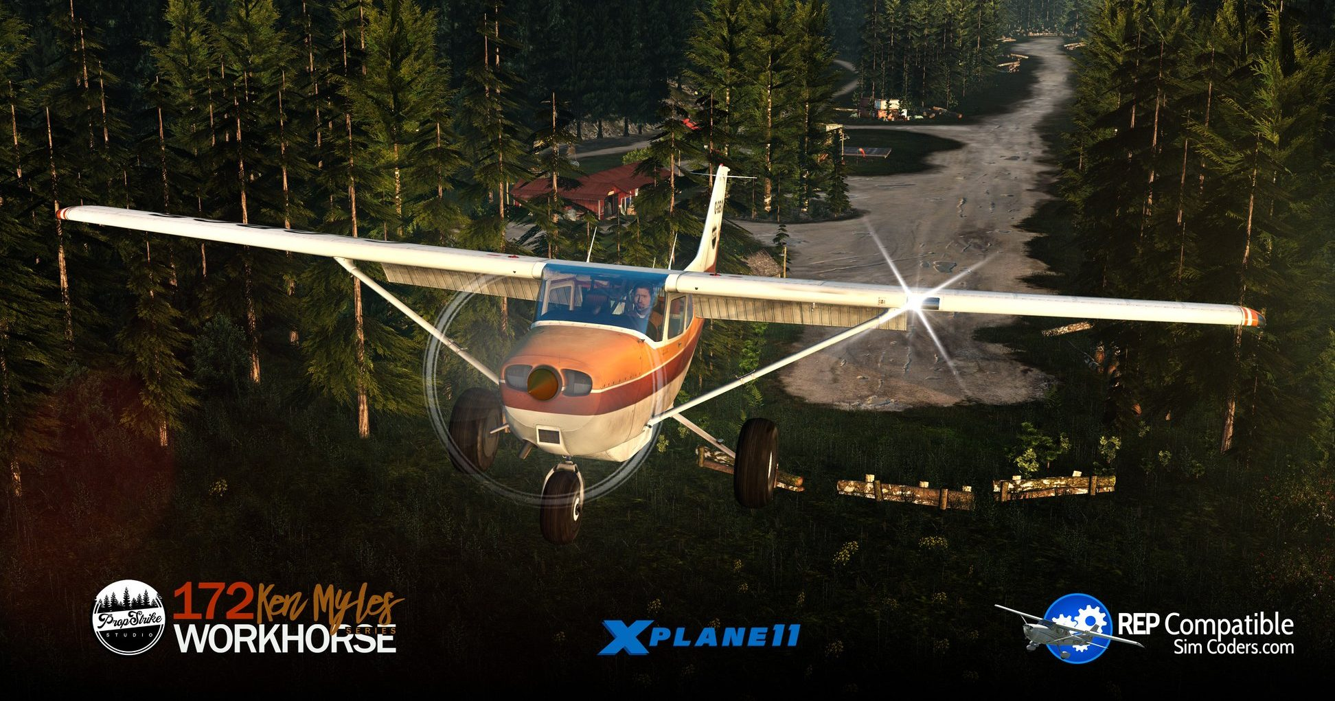 The free Cessna 172 Bush Kit for X-Plane 11 by PropStrike Studio