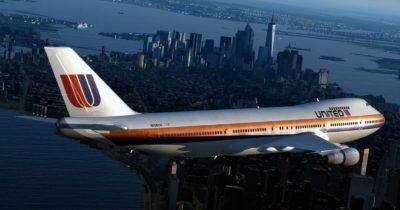The upcoming Just Flight 747 Classic over New York City.