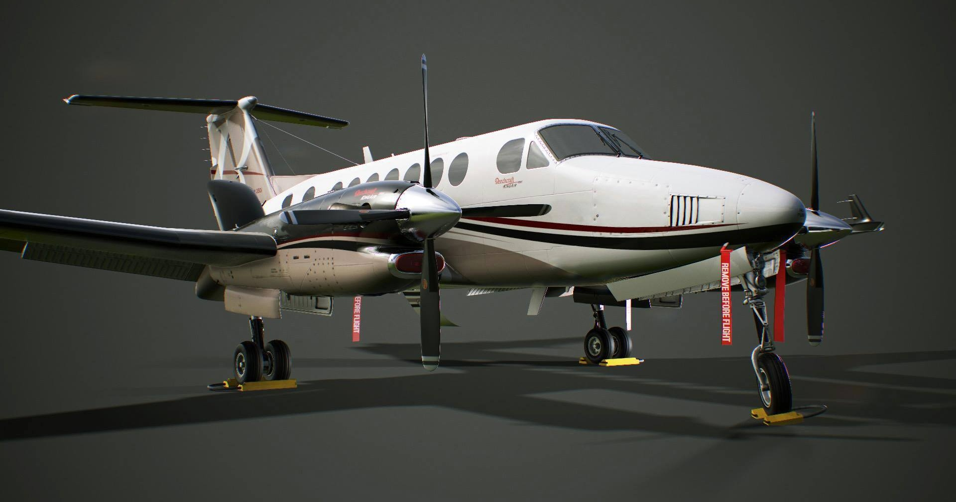 PBR preview of the upcoming Milviz King Air 350i