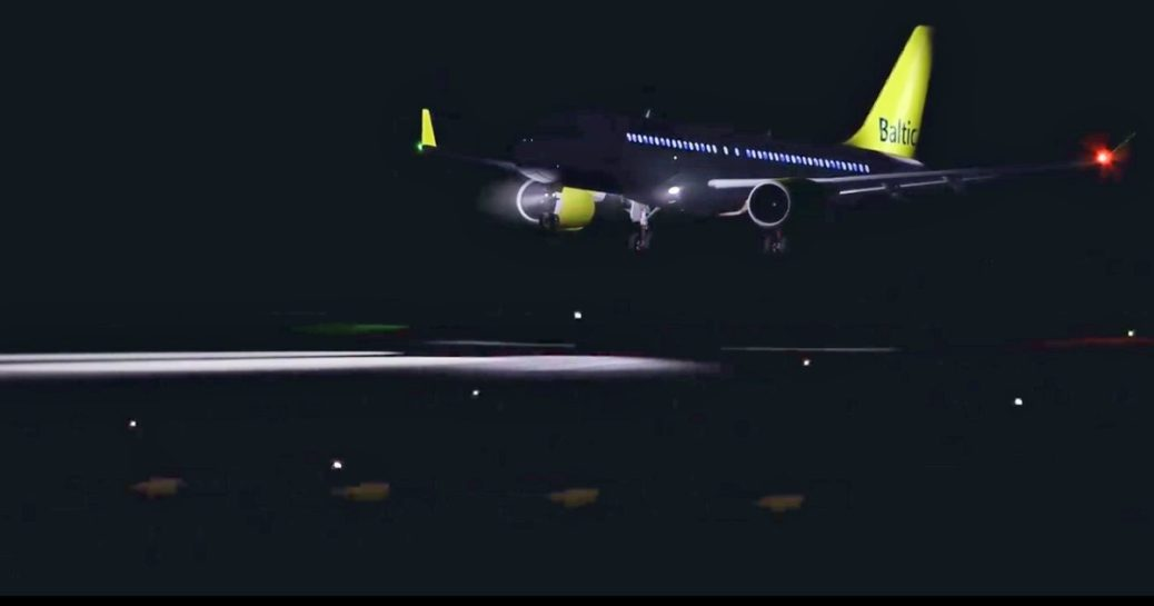 Whiskey Jet Simulations A220: Preview video of the night lighting
