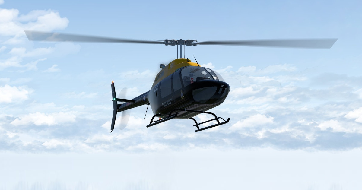 Bell 206 JetRanger Freeware for X-Plane 11 by Joe Rowe