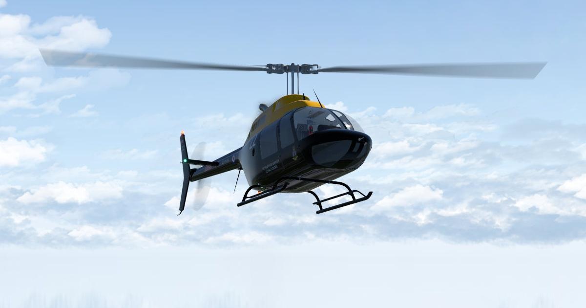 Freeware Bell 206 JetRanger for X-Plane 11 released