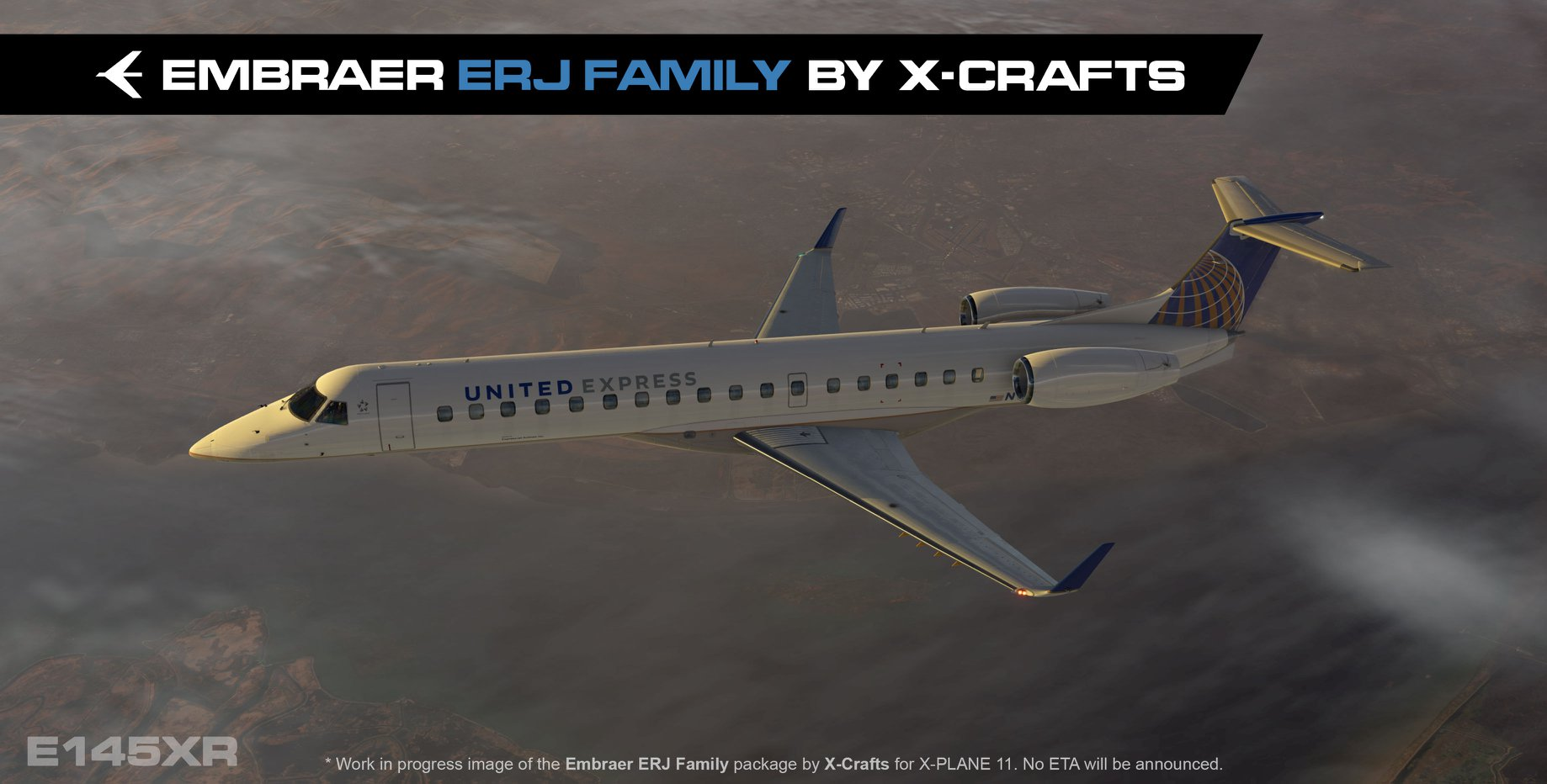 X-Crafts ERJ Family on final!