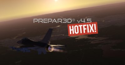 Hotfix 1 for Prepar3D v4.5 has been released!